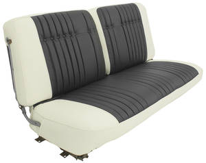 Cadillac Seat Upholstery, 1960 Coupe DeVille - Leather (Front Split Bench)