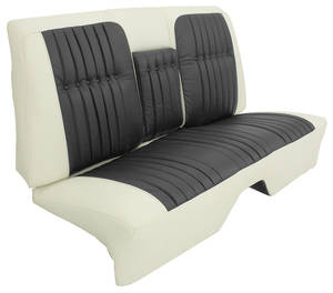 1960-1960 Cadillac Seat Upholstery, 1960 Coupe DeVille - Leather (Rear Seat with Armrest) Coupe, by Distinctive Industries