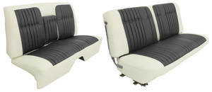 Cadillac Seat Upholstery, 1960 Coupe DeVille - Leather (Front Split Bench & Rear Seat with Armrest) Coupe