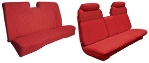1970-1970 Cadillac Seat Upholstery, 1970 Eldorado Leather (Front Strato Bench & Rear Seat with Armrest), by Distinctive Industries