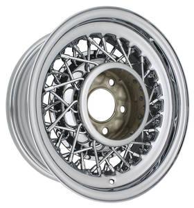 """1957-76 Cadillac Wheels, 52 Spoke Wire - 15 X 6 (B.S. 3"""") (5x5)"""