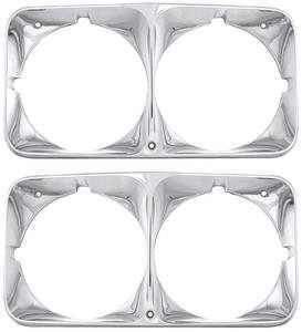 1971-1971 Cadillac Headlight Bezels (Eldorado), by RESTOPARTS