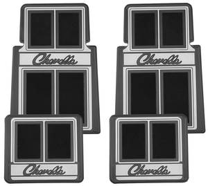 1964-1977 Chevelle Floor Mats, Designer Chevelle, by RESTOPARTS