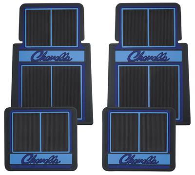 1964-77 Floor Mats, Designer Chevelle, by RESTOPARTS