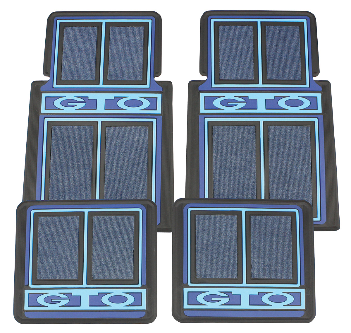 1964 73 Floor Mats Designer Gto By Restoparts For Years
