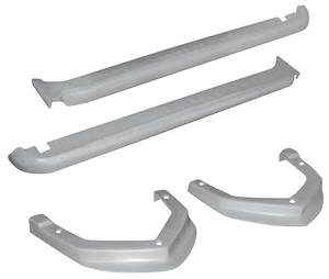 1974-76 Cadillac Body Filler Panels - Deville and Fleetwood (Front & Rear Bumper) Nine-Piece