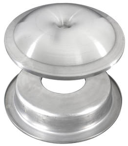 1954-76 Fleetwood Air Cleaner Lid & Base; Hot Rod Style (Aluminum) - Brushed Finish