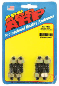 1964-1977 Chevelle Valve Cover Studs Small-Block - Stamped Steel Hex Head - Black, by ARP