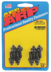 1964-1977 Chevelle Valve Cover Studs Small-Block - Stamped Steel 12-Pt. Head - Black, by ARP