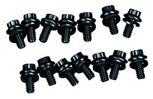 1964-1977 Chevelle Oil Pan Bolts Small-Block 12-Point Head - Black Oxide