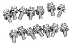 1964-77 Chevelle Oil Pan Bolts Big-Block 12-Point Head - Stainless Steel