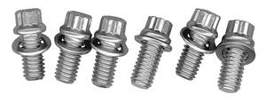 1964-1977 Chevelle Motor Mount Bolts V6 & V8, 12-Pcs. Hex Head - Stainless Steel