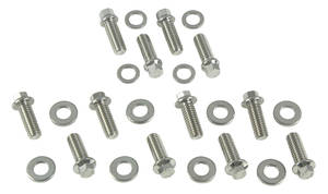 1964-77 Chevelle Intake Manifold Bolts 12-Point Head Small-Block, Black Oxide