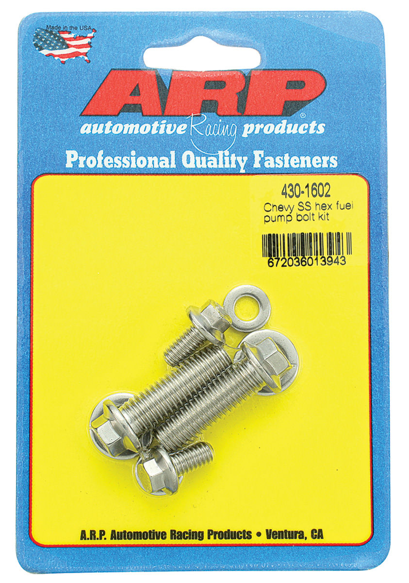 Photo of Fuel Pump Mounting Bolts (Performance) hex head - stainless