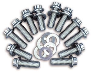 "1978-1988 Malibu Header Bolts, Race Quality Big-Block (Black) 3/8"" Hex Head"