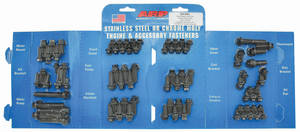 1964-77 Chevelle Engine Fastener Kit, High-Performance Small-Block Hex Head - Black