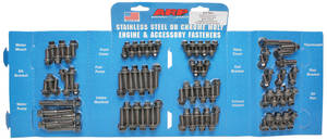 1964-77 Chevelle Engine Fastener Kit, High-Performance Big-Block Hex Head - Black