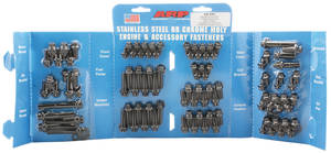1964-77 Chevelle Engine Fastener Kit, High-Performance Big-Block 12-Point Head - Black