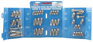 1964-77 Chevelle Engine Fastener Kit, High-Performance Small-Block Hex Head - Stainless