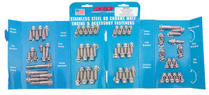 1978-88 Malibu Engine Fastener Kit, High-Performance Small-Block 12-Point Head - Stainless