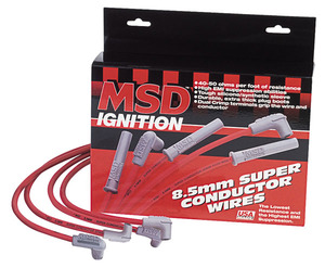 1961-1977 Cutlass Spark Plug Wire Set, 8.5 mm Super Conductor 90-Degree/ Straight, by MSD