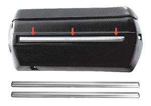 "1968 GTO Armrest Base Molding, Front for 14"" Bases"