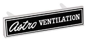"""1969-1969 El Camino Dash Emblem, 1969 """"Astro Ventilation"""""""