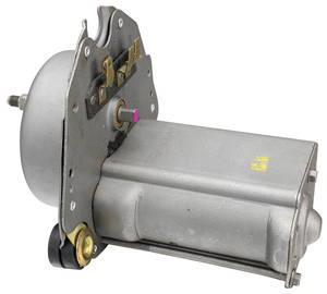 1966-67 El Camino Wiper Motor Assembly Remanufactured 2-Speed (Boxed Style) 3 Terminal