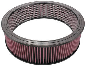 "1962-1977 Grand Prix Air Cleaner Element, 14"" Replacement 4"" Diameter"