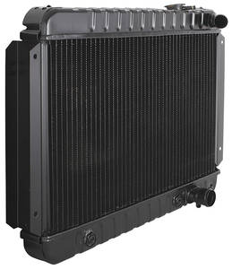 "1966-1967 Chevelle Radiator, Desert Cooler 4-Row 15-1/2"" X 23-1/2"" X 2"" MT, Driver Filler, by U.S. Radiator"