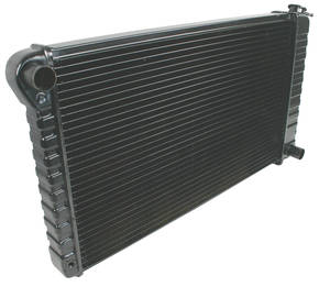 "1970-72 Monte Carlo Radiator, Desert Cooler 4-Row Manual Transmission, Passenger Filler (17"" X 28-3/8"" X 2""), by U.S. Radiator"