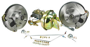 1964-66 Chevelle Brake Kits, Front Drop Spindle Disc Standard Booster