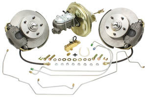 1968-72 LeMans Brake Kits, Drop Spindle Disc Standard Booster