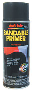 1959-77 Grand Prix Plasti-Kote Anti-Rust Primer Black, 12-oz.