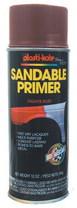 1959-77 Grand Prix Plasti-Kote Anti-Rust Primer Red, 12-oz.