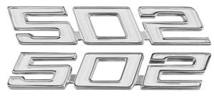 "1968-70 Chevelle Fender Emblem, ""502"""