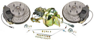 1964-66 El Camino Brake Kits, Front Stock Spindle Disc Standard Booster