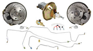 1969-72 Grand Prix Brake Kits, Complete Stock Spindle Front (Disc) Standard Booster Deluxe Kit