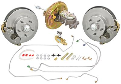 1967 El Camino Brake Kits, Front Stock Spindle Disc Standard Booster