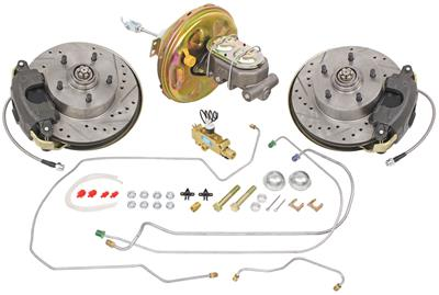 1967 Chevelle Brake Kits, Front Stock Spindle Disc Standard Booster Deluxe Kit