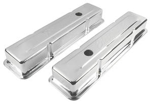 1964-77 Chevelle Valve Covers, Signature Series Small-Block Short, by Edelbrock