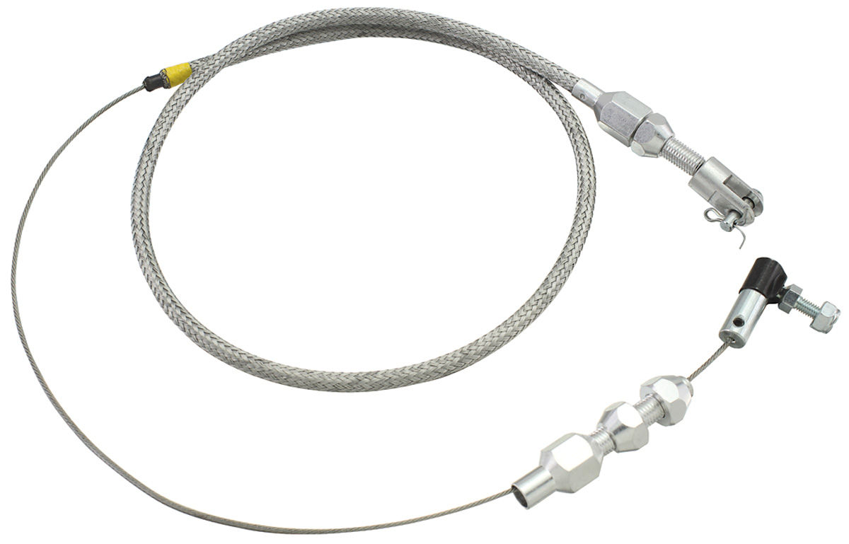 chevelle throttle cable  braided stainless steel  fits 1964