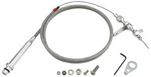 1964-77 Chevelle Throttle & Kickdown Cable (Braided Stainless Steel) Kickdown