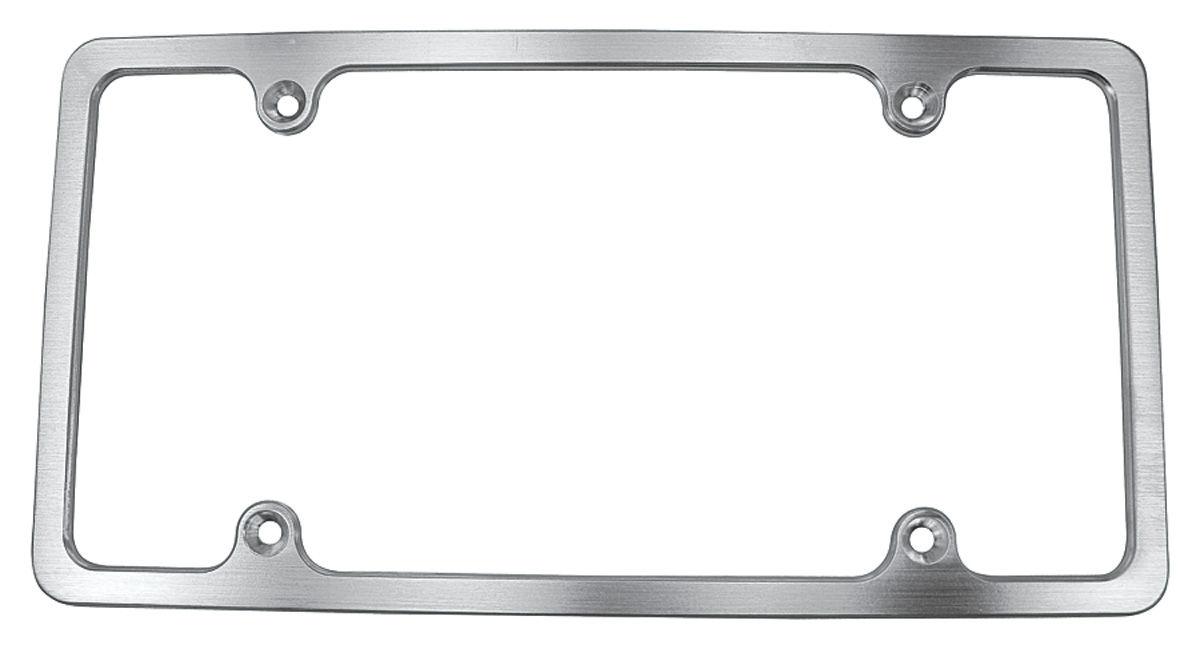 Photo of License Plate Frame, Billet Aluminum plain, brushed