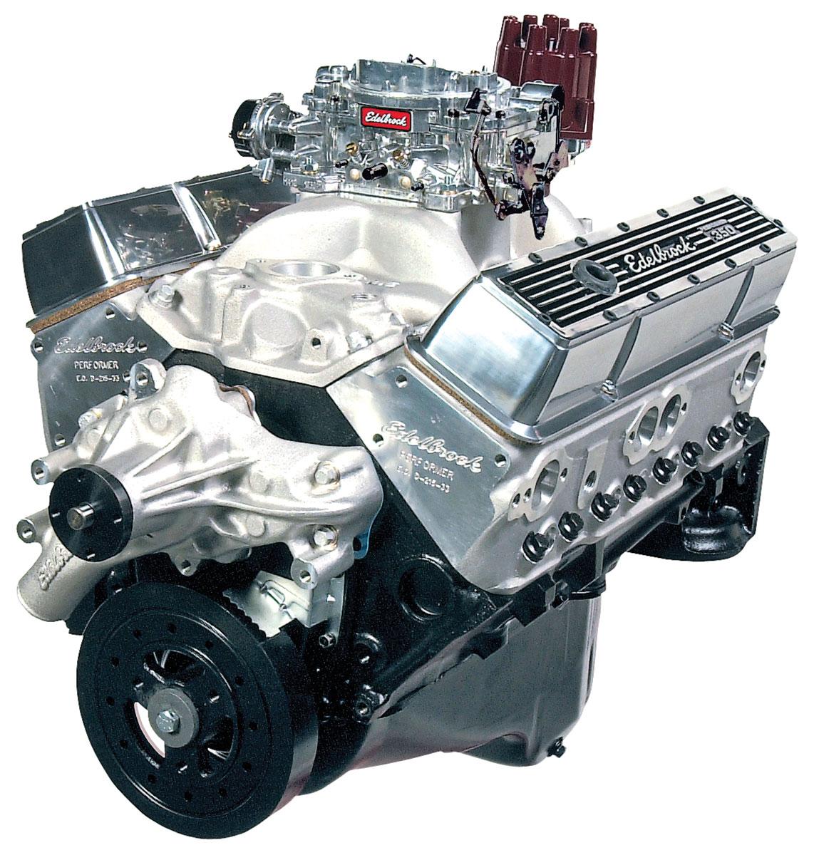 Photo of El Camino Crate Engine, Edelbrock Performer Performer Eps Manifold & 650 Cfm Thunder Series Avs Carburetor short water pump, satin
