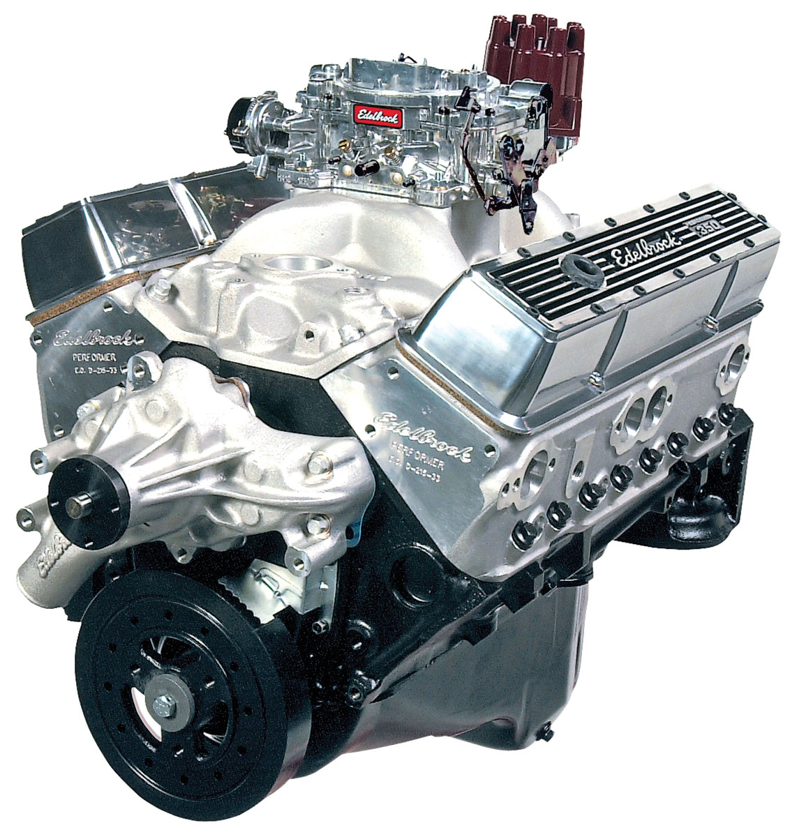 Photo of El Camino Crate Engine, Edelbrock Performer Performer Eps Manifold & 650 Cfm Thunder Series Avs Carburetor long water pump, satin