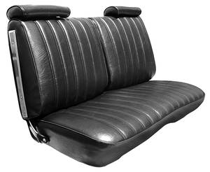 Seat Upholstery, 1973-77 El Camino Bench (Vinyl w/Velour Inserts)
