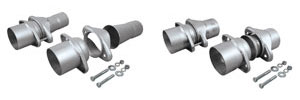 "Header Collector Ball Flange Kit 2-1/2"" Exhaust, 3"" Collector"
