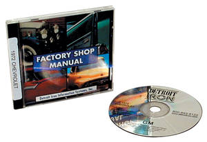 1964 El Camino CD-ROM Factory Shop Manuals Does Not Include Service Manual