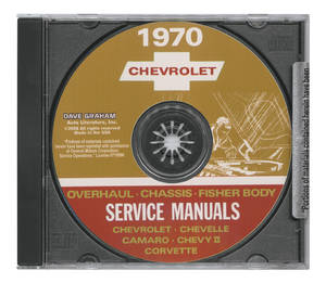 1970 Chevelle CD-ROM Factory Shop Manuals